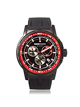 MOMODESIGN Men's MD2164BK41-RB Pilot Black/Red Silicone Watch