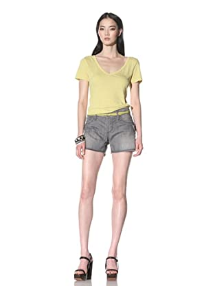 James Jeans Women's Shorty Boyfriend Shorts (Mist)