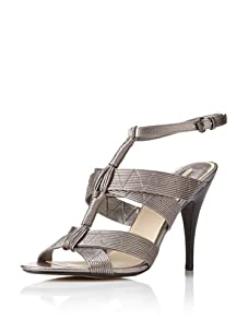 MaxStudio Women's Era Ankle-Strap Sandal (Gunmetal)
