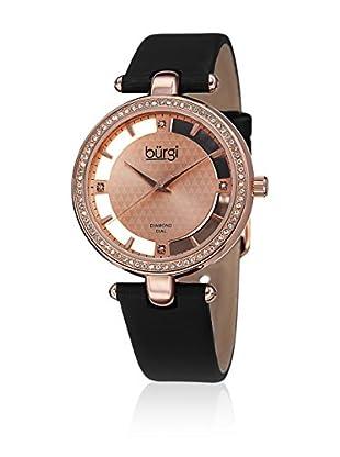 Bürgi Uhr mit schweizer Quarzuhrwerk Woman schwarz