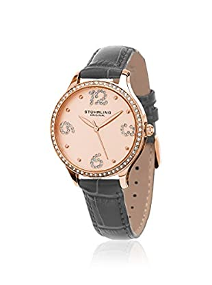 Stührling Women's Chic 560 Vogue Grey/Rose 316L Surgical Grade Stainless Steel Watch