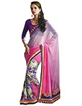 Faux Georgette Saree in Multi Colour for Party Wear