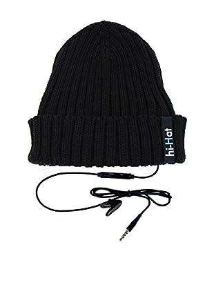 hi-Fun Gorro Con Auriculares Hi-Hat Turn Up Negro