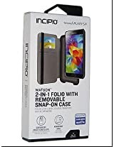 Galaxy S5 2-in-1 Incipio Folio with Removable Snap-on Case and Credit Card Slots