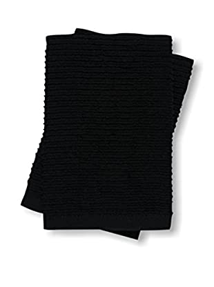 KAF Home Set of 2 Wave Dish Cloths, Black