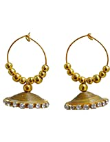 Kaagitham Hoop Style Jhumka Earrings