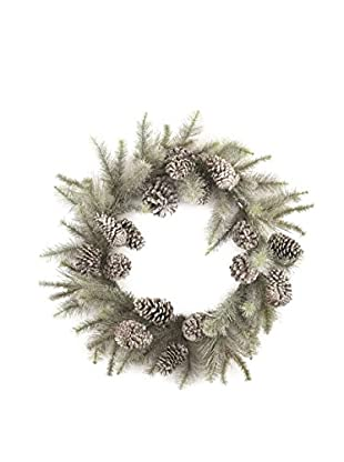 Napa Home & Garden Vintage-Inspired Glitter Pine Wreath, Platinum
