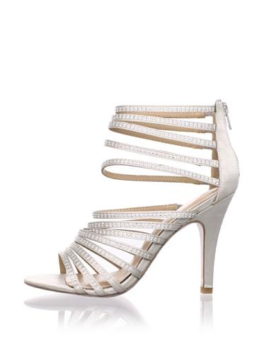 Le Soir Pour La Victoire Women's Briller Strappy Sandal (Silver)