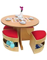A+ Childsupply Circular Table with 4 stools