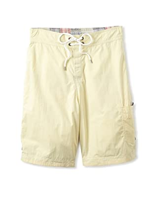 Tailor Vintage Men's Reversible Board Shorts (Palm Beach Patchwork/Yellow)