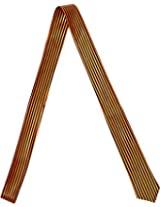 Outer Rebel Fashion Skinny Tie- Orange and Black Stripe
