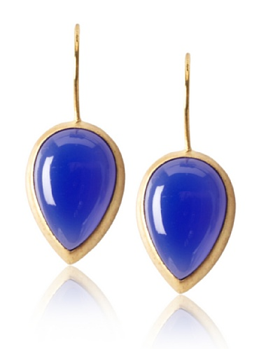 Eddera Lapis Chalcedony Blanch Earrings