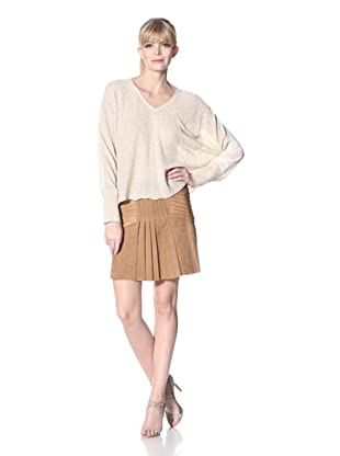 Zero Degrees Celsius Women's Metalic Dolman Sweater (Champaigne)