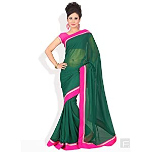Chromatic Charisma Saree-Green-FS