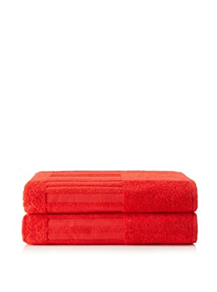Garnier-Thiebaut Set of 2 Bath Sheets (Fraise)