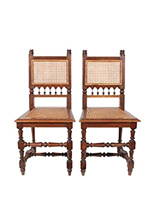 Pair of Renaissance Style Chairs, Natural