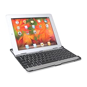 【HAIKAU】 iPad2 bluetoothキーボード内蔵アルミケース 【USキーボード】 ブラック 日本語操作説明書付き