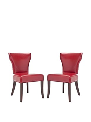 Safavieh Set of 2 Ryan Side Chairs, Red