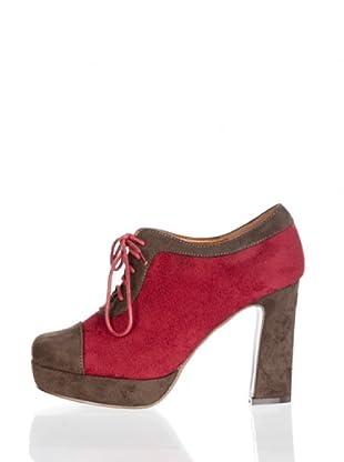 Paula Soler Zapatos Cordones (Rojo)