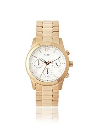 Guess Women's W16571L1 Spectrum Chronograph Gold Tone/White Stainless Steel Watch