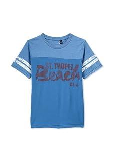 Joe's Jeans Boy's Crew Neck Football Tee (Blue)