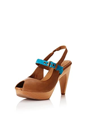J. Shoes Women's Carnival Novelty Pump (Tan/Algers Blue)