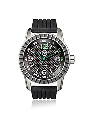 GV2 by Gevril Men's 9304 Lucky 7 Black Rubber Watch