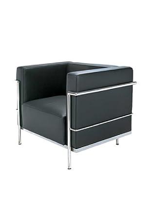 Manhattan Living Grand Leather Chair, Black