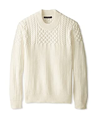 French Connection Men's Huntsman Solid Cable Sweater
