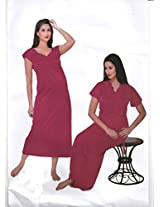 Indiatrendzs Sexy Hot Nighty Honeymoon Nighties Nightgown 2pc Set -Freesize