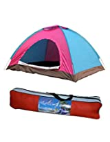 Abs Foldable Instant Camping Family Adventure Home Tent - For 6 Persons (Multicolor)