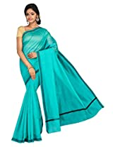 Korni Cotton Silk Banarasi Saree TF-1035- Rama KR0423