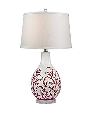 Artistic Lighting Red Coral Ceramic Table Lamp