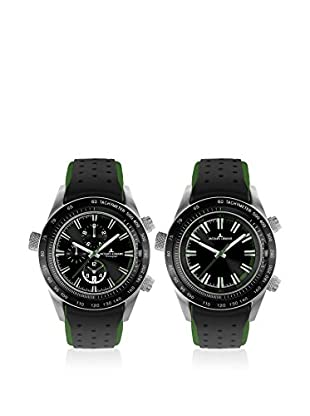 Jacques Lemans Quarzuhr Turnable - Dualtime - Chrono schwarz 44 mm