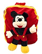 Mickey Mouse Soft Toy School Bag