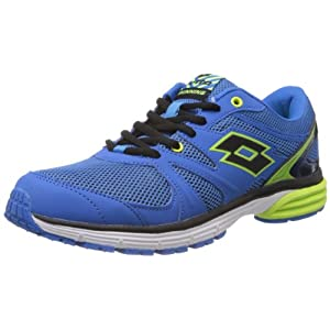 Lotto Lime and Blue Santiago Running Shoes for Men