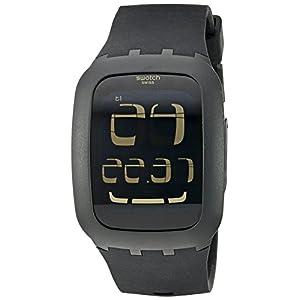 Swatch Alarm Digital Black Dial Men's Watch - SURB100
