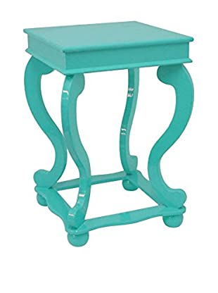 Three Hands Wood Table, Turquoise