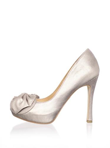 Badgley Mischka Women's Wilda Peep-Toe Pump (Rose Gold)