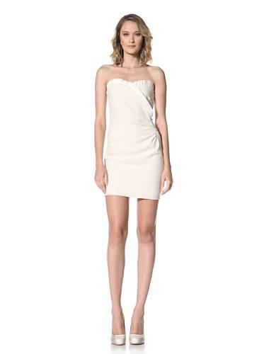 Paul & Joe Women's Xenobie Delicate Ruffle Strapless Dress (Off white)