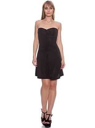 Santa Bárbara Vestido Liso (Negro)
