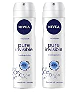 Nivea Anti-perspirant pure invisible protection 48h Deodorant Spray (Pack of 2) With Free Ayur Soap