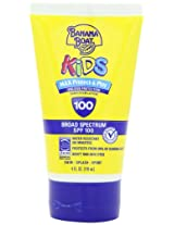 Banana Boat Kids Sunblock Lotion SPF 100, 4-Ounce Bottle