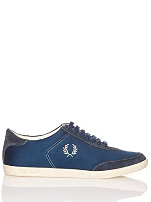 Fred Perry Deportiva Hank Twill/Suede (Azul)