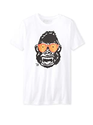 Ames Bros Men's X-Ray Ape Crew Neck T-Shirt (White)
