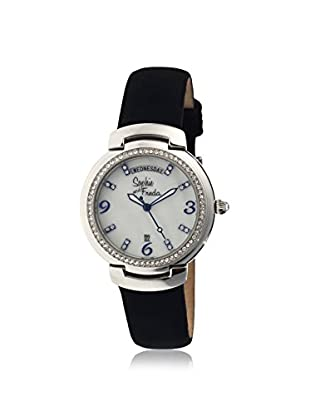Sophie and Freda Women's SF4001 New Orleans Black/White Leather Watch