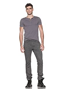Comune Men's Kristof Button Fly Pant (Grey Tweed)