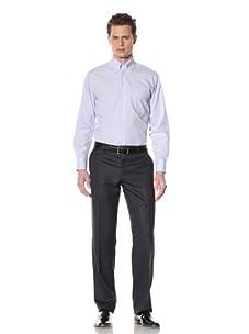 GF Ferré Men's Pinstripe Dress Shirt (Blue/White)