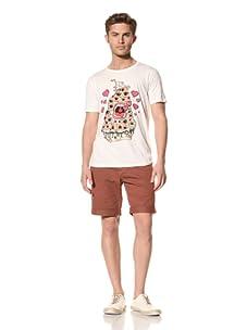 Vanishing Elephant Men's Eyescream Short Sleeve T-Shirt (White)
