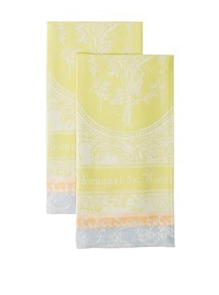 Garnier-Thiebaut Set of 2 Bouquet de Rose Solaire Kitchen Towels